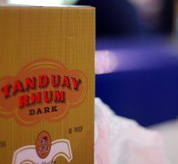 A box of Tanduay dark rum