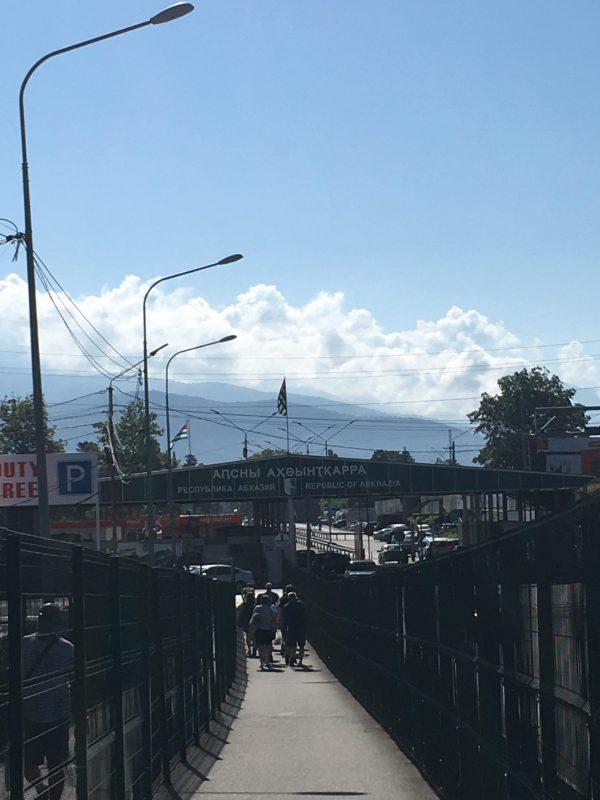 The border of Abkhazia