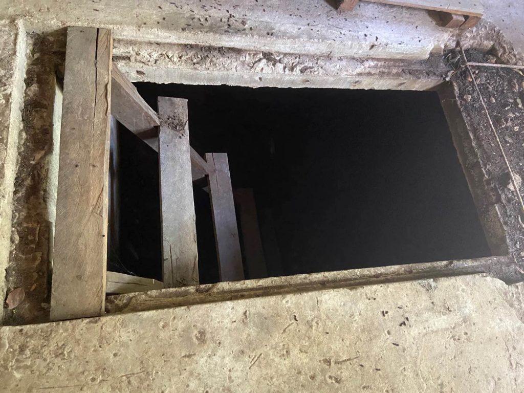 A door to Pol Pot's Bunker