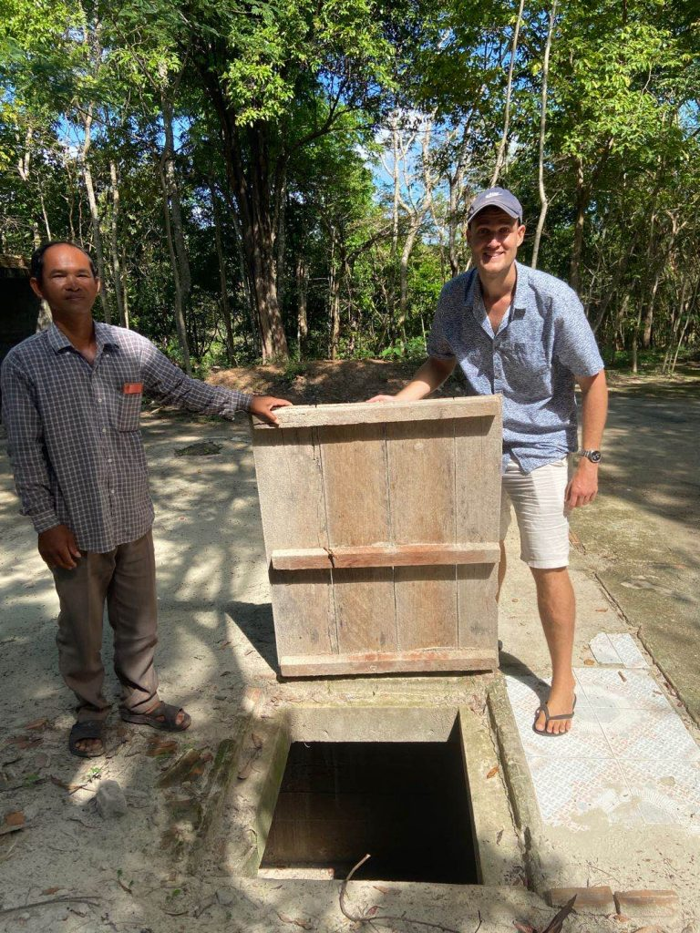 The trap door to the bunker of Pol Pot