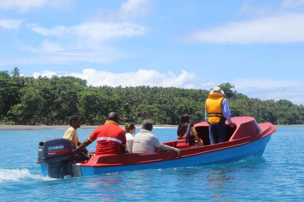 YPT guests are taken on a trip to Savo Island, near Honiara