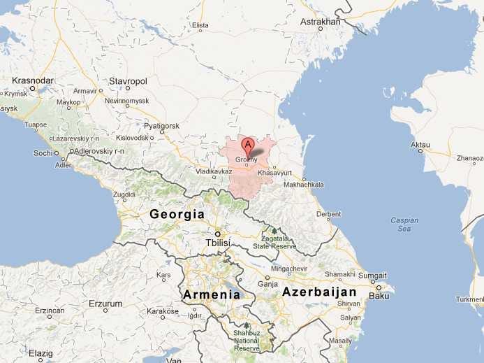 Chechnya Map