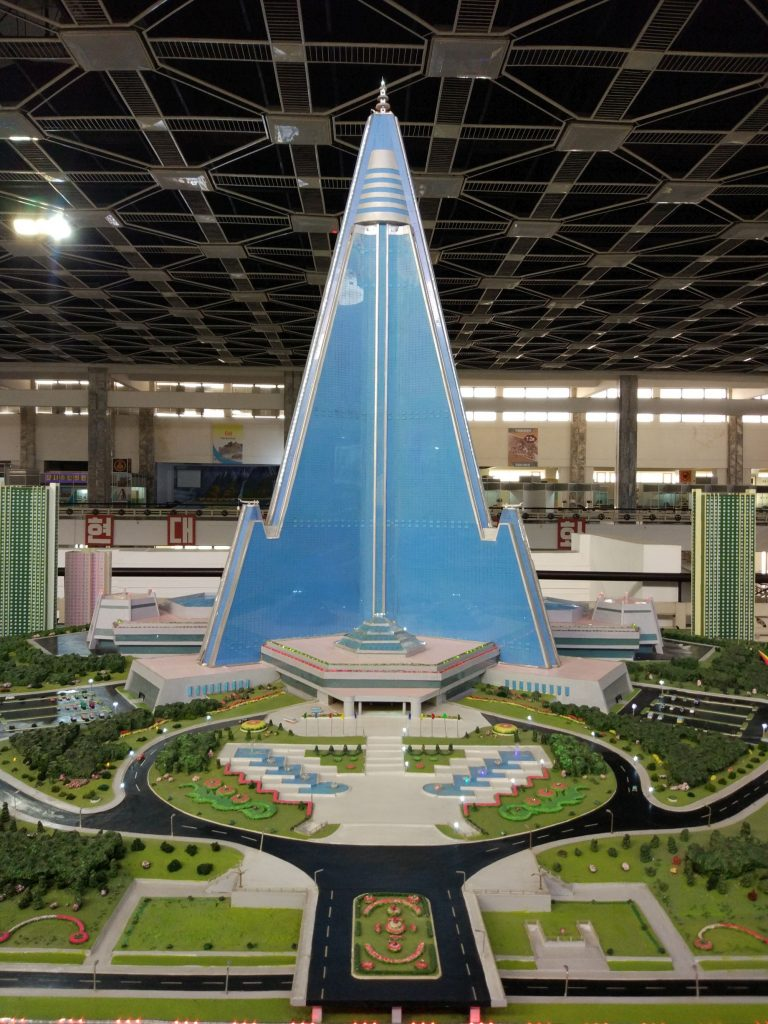 Scale model of Ryugyong Hotel