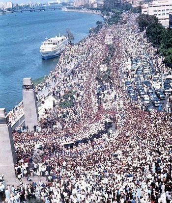 Nasser's funeral procession