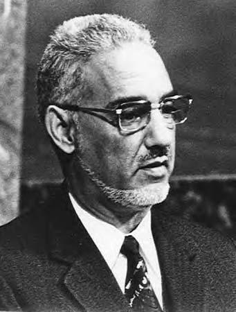 Moktar Ould Daddah, head of the Mauritanian dictatorship