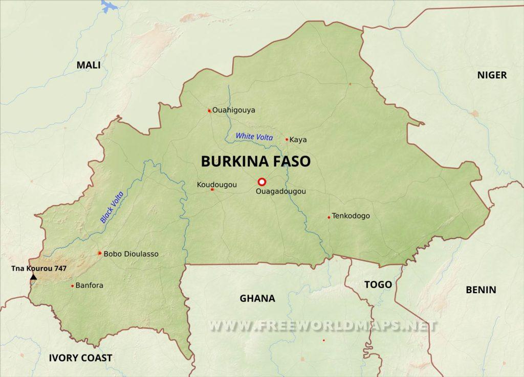 City map of Burkina Faso