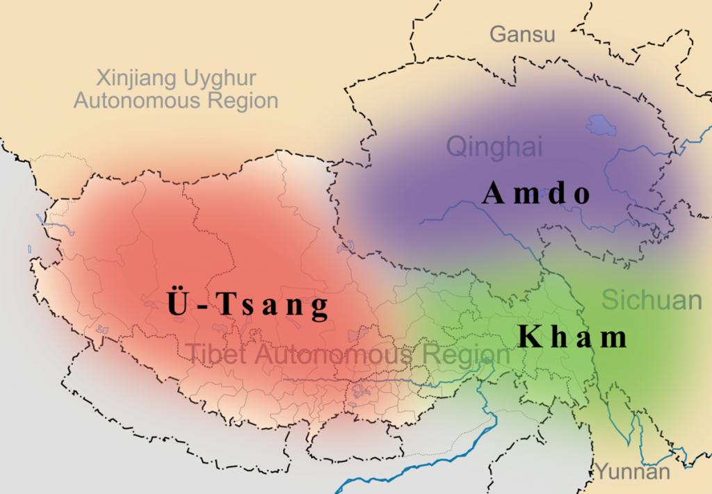 Tibet linguistic map