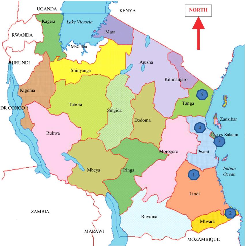 Tanzania regions