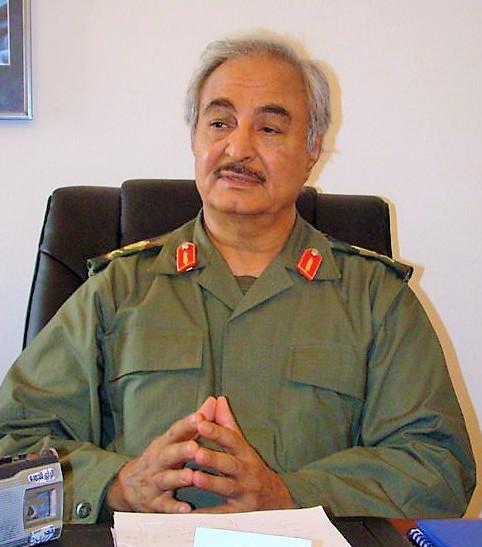Khalifa Haftar, candidate for the Libya elections
