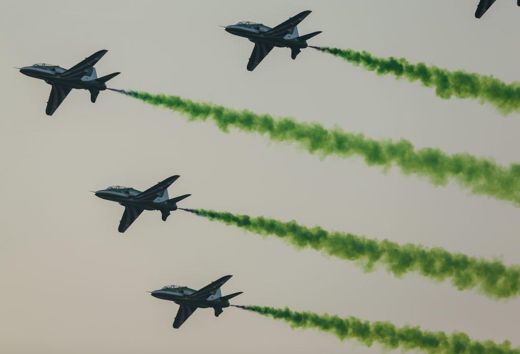 Saudi Arabia national day military flyover